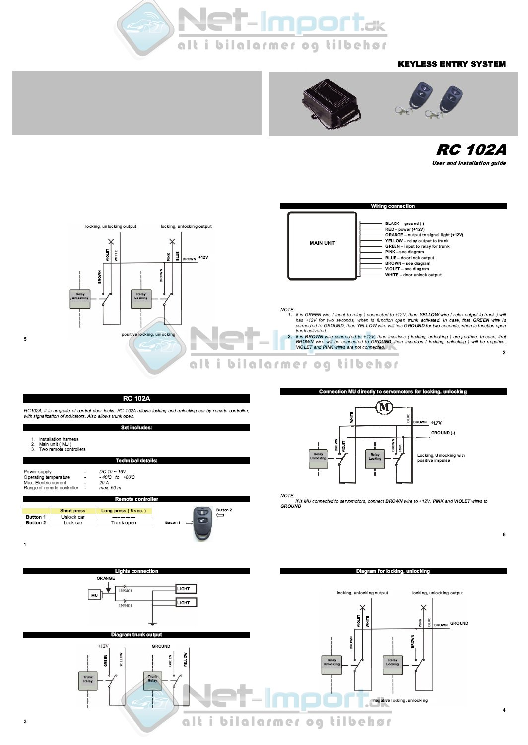 RC 102A manual diagrammer installationsmanualer og vejledninger viper 3100 wiring diagram at readyjetset.co